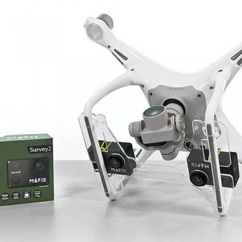 Supporto per camere Mapir su droni DJI Phantom