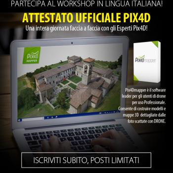 Workshop Pix4D con Attestato Ufficiale