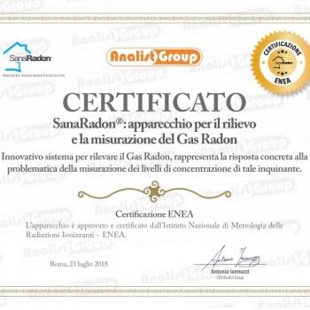 certificato enea SanaRadon