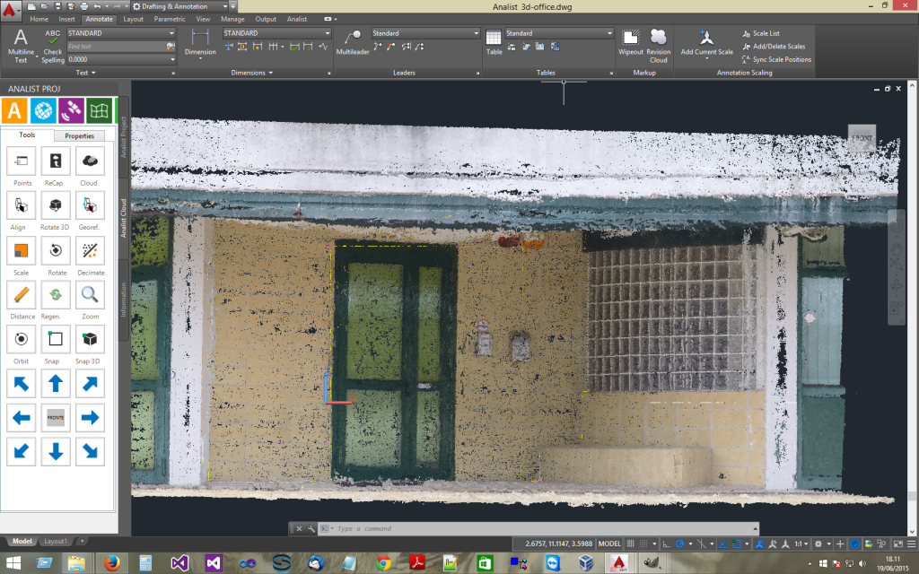 Analist 2019 Cloud imports and manages Point Clouds