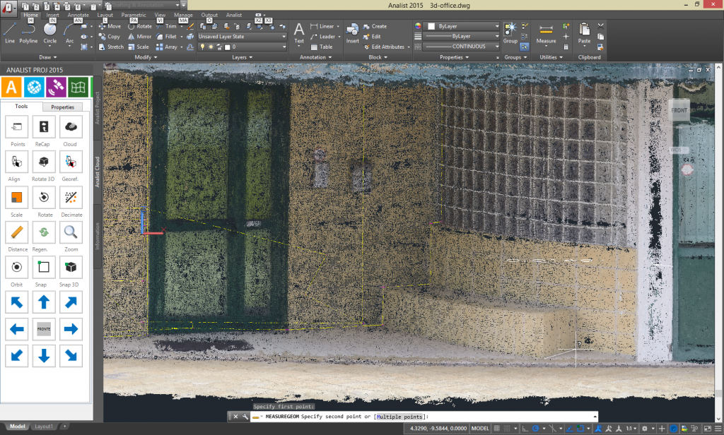 Carry out all the measurements you wish on your Point Cloud with Analist 2019 CLOUD