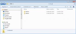 Example of Folder organization on a PC